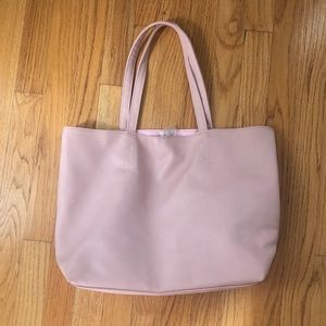 NWT Macy's Blush Pink Leather Tote